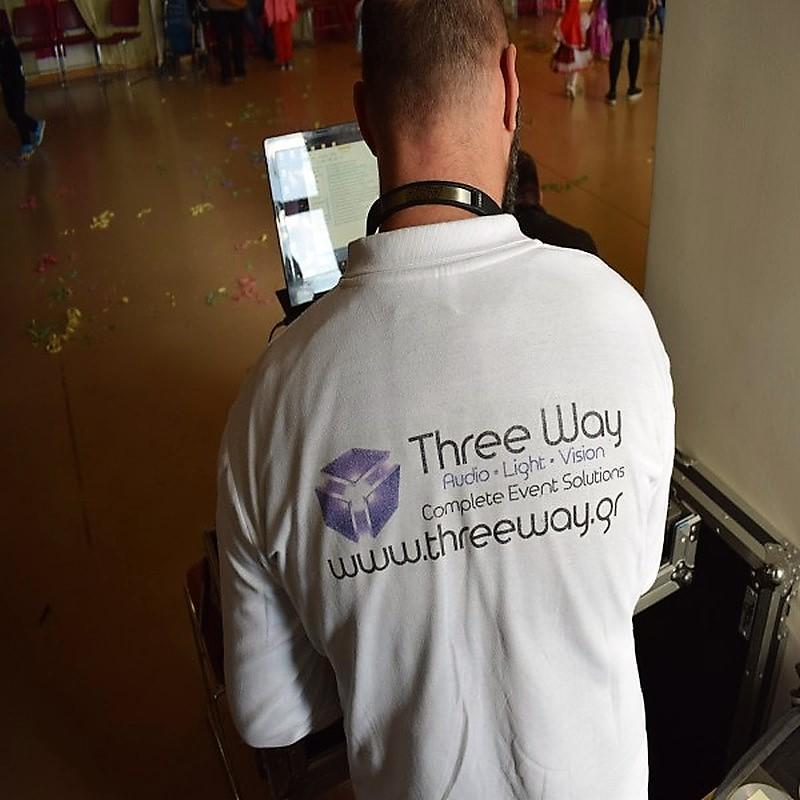 three way dj t shirt